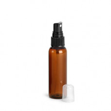 2 Oz Amber PET Bottle With Black Sprayer