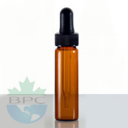 2 Dram Amber Glass Vial With Dropper
