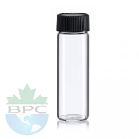 2 Dram clear glass bottles