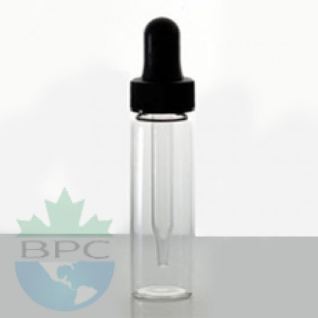 2 Dram Clear Glass Vial With Dropper