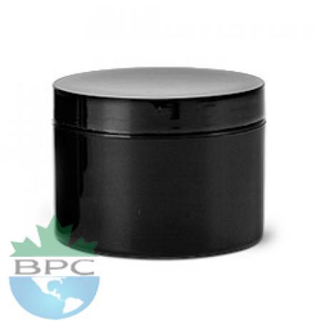 2 OZ Double Wall Black Jar With Black Cap