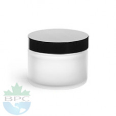 2 Oz Frosted  Jar With Blk Cap