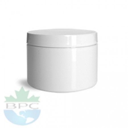 2 Oz Double Wall Jar With White Cap