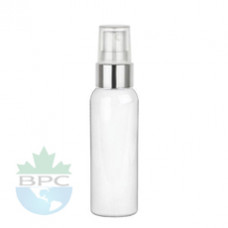 2 Oz  White PET Bottle With Sprayer