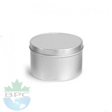 2 OZ Deep Metal Tin With Slip Cover Top