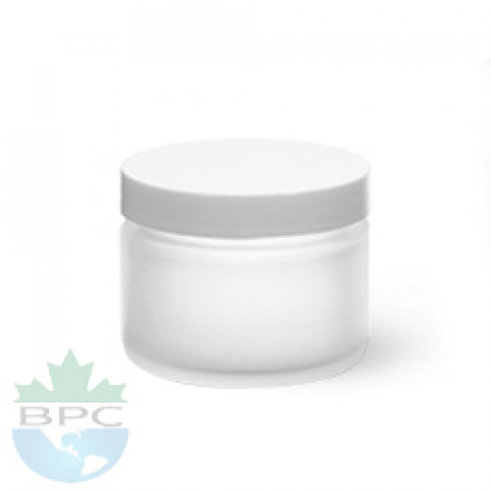 2 Oz Frosted  Jar With White Cap