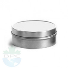3 Oz Flat Tin With Slip On Cover Top