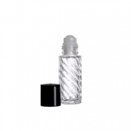 5ml Roll On Glass Bottle Swirl With Cap