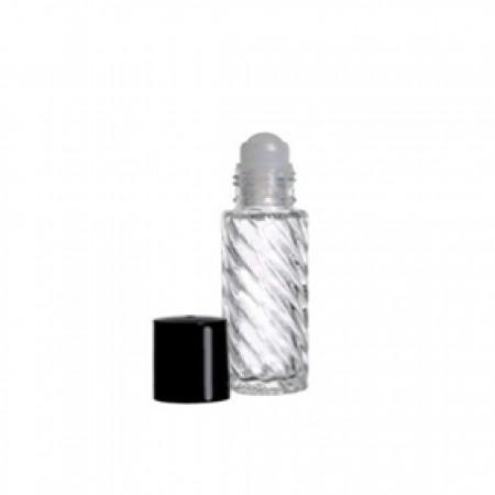 5ml Roll On Glass Bottle Swirl With Cap
