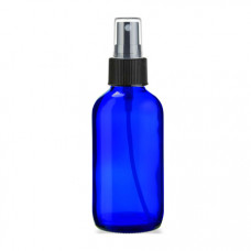 4 Oz Blue Glass Bottle With Black Sprayer