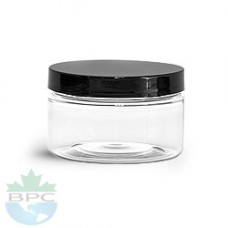 4 OZ PET Heavy Wall Jar With Black Cap