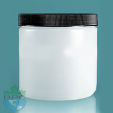 500 ml Natural Jar With Black Cap