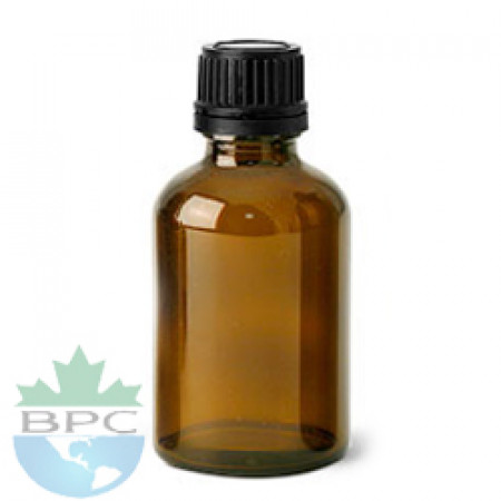 50 ml Amber Glass Bottle With Black Cap