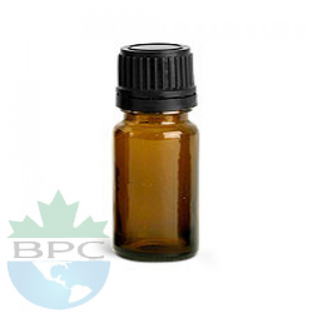 5 ml Amber Glass Bottle With Black Cap