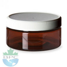 8 Oz Jar Amber Jar With White Cap