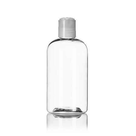 8 OZ Boston Pet Bottle With Natural Disc Top Cap