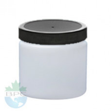 8 Oz Natural Jar With Black Cap