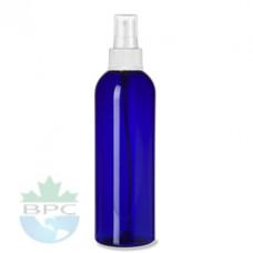 8 Oz Blue Pet Cylinder With White Sprayer