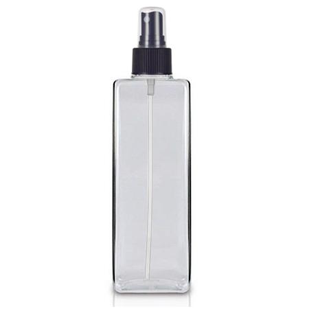 8 Oz Square PET Bottle With Black Sprayer
