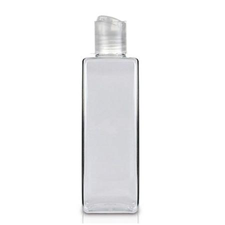 8 Oz Square PET Bottle With Natural Disc Cap