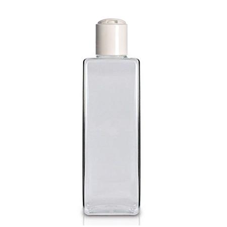 8 Oz Square PET Bottle With White Disc Cap