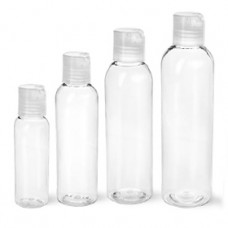 Clear Pet Bottles With Natural Disc Top