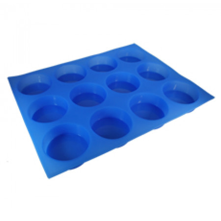 12 Cavities Round Silicone Mold