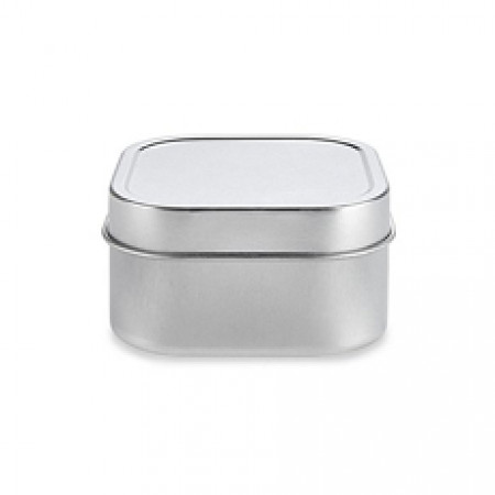 2 OZ Square Tin With Slip Cover Top