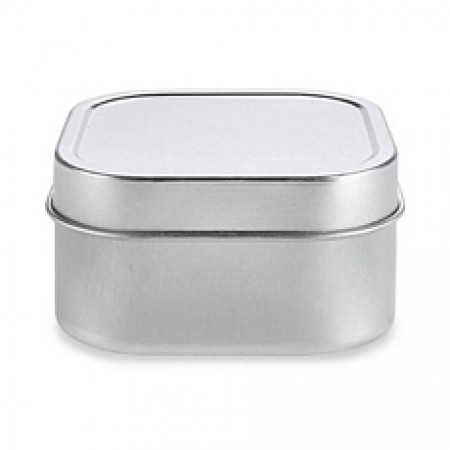4 OZ Square Tin With Slip Cover Top