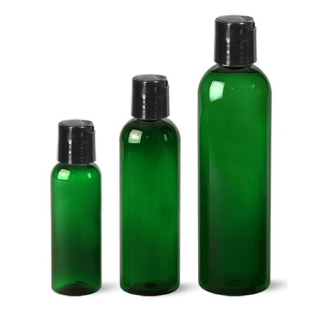 Green Pet Bottle With Blk Disc Top