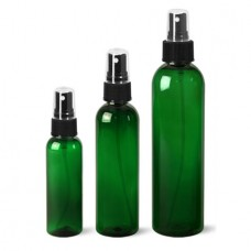 Green PET Bottle With Black Fine Mist  Sprayer