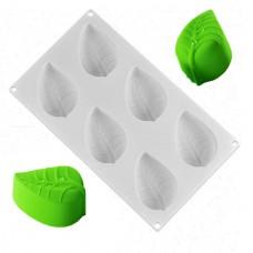 6 Cavity Large Leaf Silicone Mold