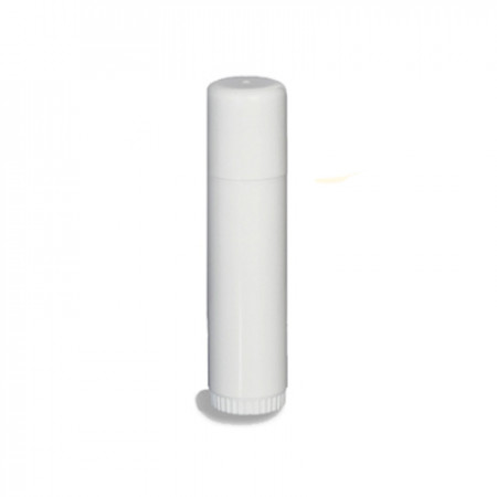 Half Oz (15 ml) Lip Balm Tube White With Cap