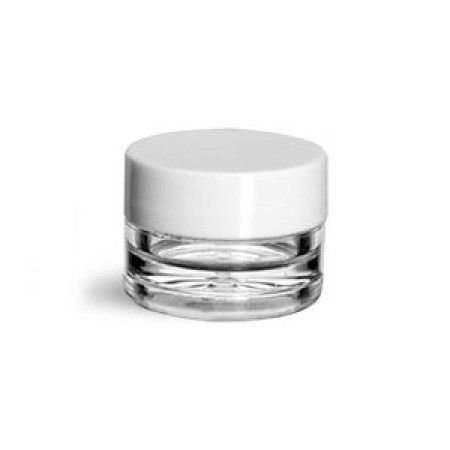 1/8 Oz Jar With White Cap