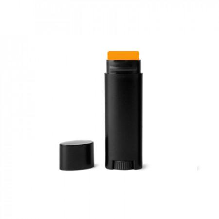 .15 Oz Black Oval Lip Balm Tube