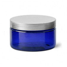 4 Oz Blue Jar With Silver Cap (120ml)