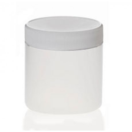 8 Oz Natural Jar With White Cap (250 ml)