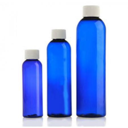 Blue Pet Bottle W White Cap