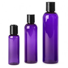 Purple Pet Bottles With Blk Disc Top